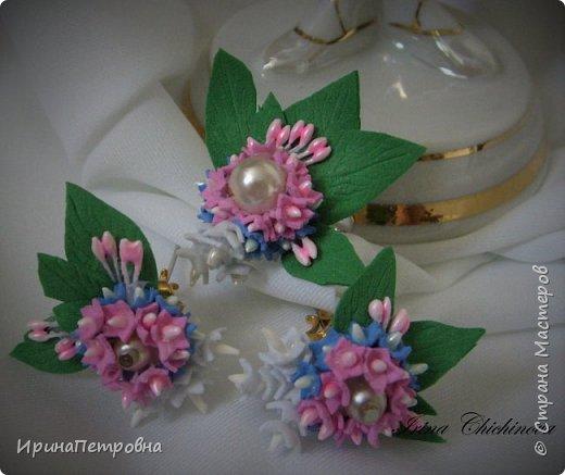 Серьги-гвоздики и кольцо из фоамирана. фото 2