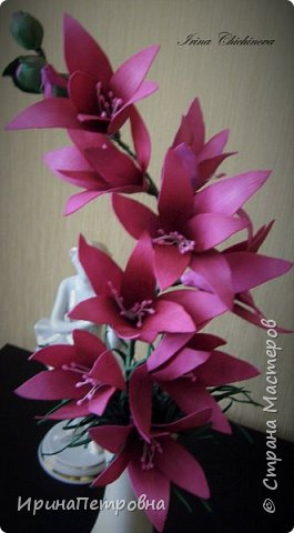 Цветы из фоамирана. фото 1