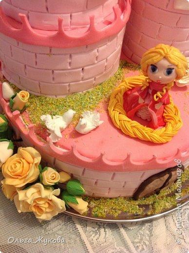 Всем-доброго времени суток! Хочу показать торт на день рождения моей старшей доченьки! Захотелось чего-нибудь сказочного! фото 3
