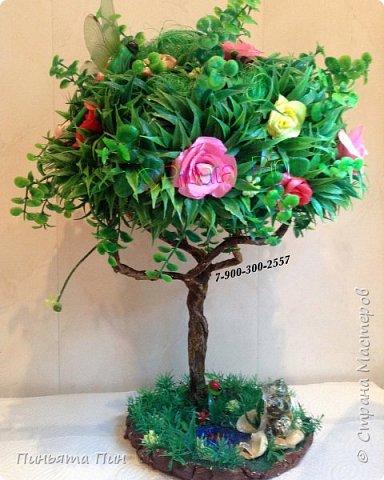 """Топиарий """"Цветочное дерево"""" фото 1"""