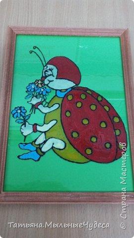 Работа с витражными красками на стекле пришлась по душе мне и моим подопечным.. фото 4