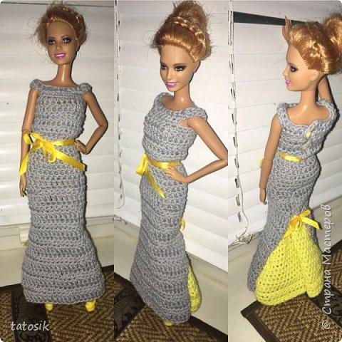 Наряды для Barbie крючком фото 9
