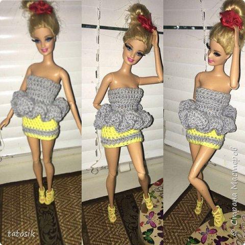 Наряды для Barbie крючком фото 15