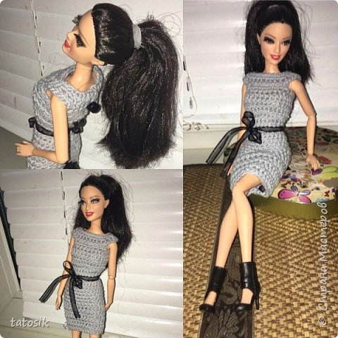Наряды для Barbie крючком фото 8