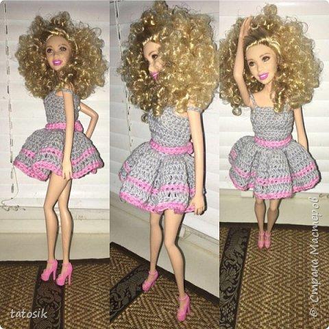 Наряды для Barbie крючком фото 6
