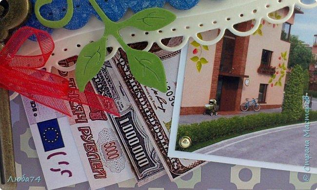 """Добрый вечер, жители СМ! Заказали мне конвертик для денежного подарка """"С новосельем"""". В пожелании заказчицы была цель отобразить дом и значок  района, тех людей, кому предназначен денежный подарок к новоселью. Значок района Mistola Hills (Мистола Хиллс) -  этот жилой комплекс находится в пригороде С-Петербурга д. Мистолово. И вот, что у меня получилось.   фото 7"""