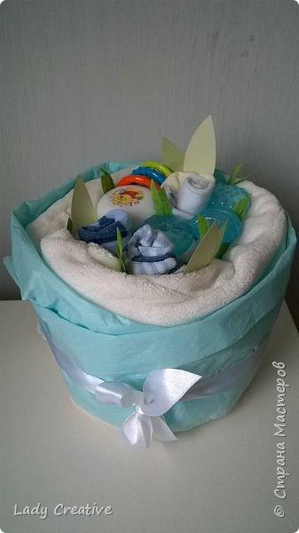 """Вот такой подарок малышу на первый """"юбилей"""" - 1 месяц: """"букет роз"""" + открытка. фото 2"""