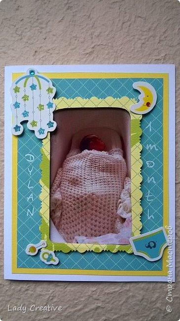 """Вот такой подарок малышу на первый """"юбилей"""" - 1 месяц: """"букет роз"""" + открытка. фото 5"""