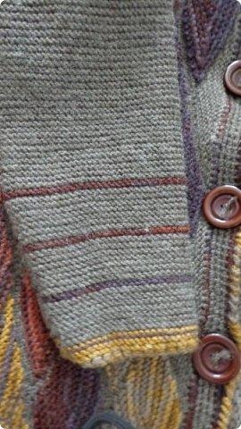 Здравствуйте. Представляю вам пальто связанное в технике свинг. фото 5