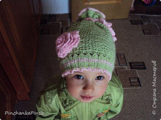 Мои первые шапочки спицами фото 1