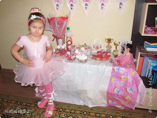 в интернете увидела комбинацию тортов из капкейков и вот решила попробовать сделать платье для балерины фото 3