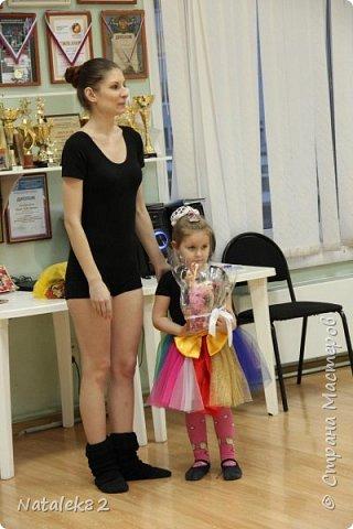 в интернете увидела комбинацию тортов из капкейков и вот решила попробовать сделать платье для балерины фото 5