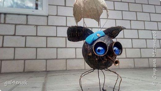 Всем доброго дня. Мне очень понравились мухолёты  Анна Вятская.. http://stranamasterov.ru/node/799594 . Спасибо огромное за идею и МК. Наделала и себе таких чудиков, а к празднику решила нарядить и добавить немного других деталей... фото 6