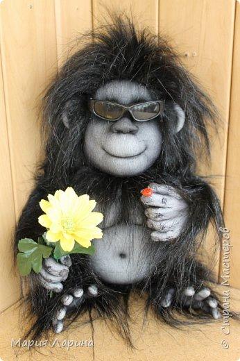 Всем большой привет ! Вот такой горилл у меня на днях родился ))) Очень хотелось сделать чёрную обезьянку ) пересмотрела фото очень много и мой выбор остановился на гориллах ! Очень надеюсь, что мой Гарри Вам понравится ))) фото 5