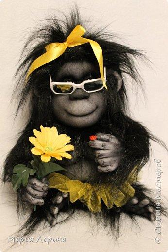 Всем большой привет ! Вот такой горилл у меня на днях родился ))) Очень хотелось сделать чёрную обезьянку ) пересмотрела фото очень много и мой выбор остановился на гориллах ! Очень надеюсь, что мой Гарри Вам понравится ))) фото 6
