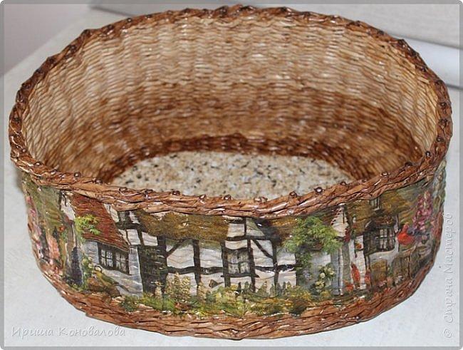 Добрый вечер, дорогие чудесники. Наплела кое- что для хлеба и хлебных изделий. Долго расписывать не буду, просто покажу со всех сторон.   Домик для хлеба. Входит две булки хлеба. фото 5