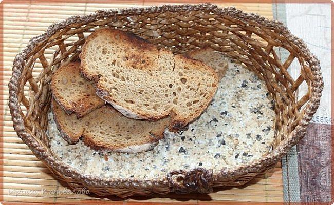 Добрый вечер, дорогие чудесники. Наплела кое- что для хлеба и хлебных изделий. Долго расписывать не буду, просто покажу со всех сторон.   Домик для хлеба. Входит две булки хлеба. фото 7