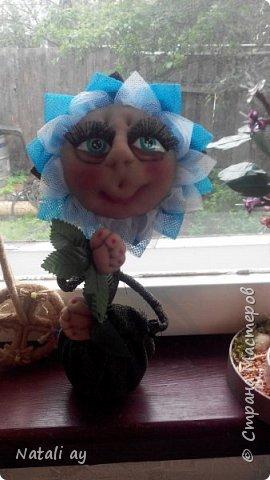 цветок из капрона и ткани.  фото 1