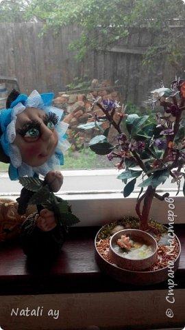цветок из капрона и ткани.  фото 5