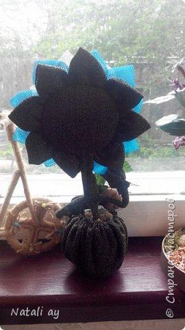 цветок из капрона и ткани.  фото 3