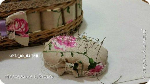 Шкатулка для ниток и игольницы фото 5