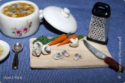 "Кукольная миниатюра ""Варим суп"""