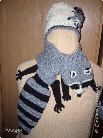 Вязание крючком. Звери-шарфы и шапки фото 3