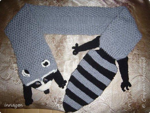 Вязание крючком. Звери-шарфы и шапки фото 4