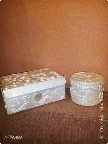 Здоровья и благоденствия, Страна!  Хочу поблагодарить всех мастеров, делящихся секретами мастерства! Это так здорово - учиться и вдохновляться вашими работами! Показываю свои последние изделия. Картонная коробка и пластиковая баночка из-под крема.  фото 9