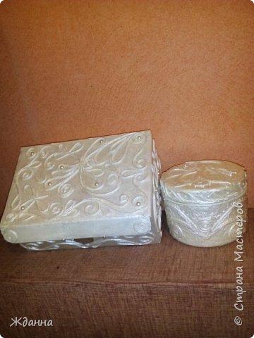 Здоровья и благоденствия, Страна!  Хочу поблагодарить всех мастеров, делящихся секретами мастерства! Это так здорово - учиться и вдохновляться вашими работами! Показываю свои последние изделия. Картонная коробка и пластиковая баночка из-под крема.  фото 10