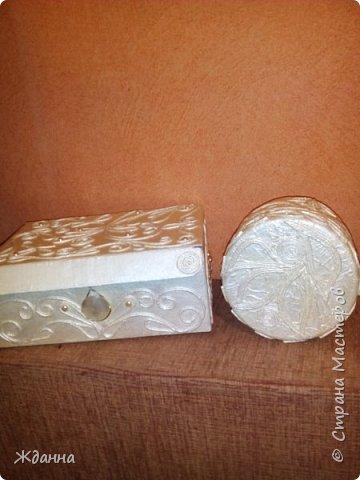 Здоровья и благоденствия, Страна!  Хочу поблагодарить всех мастеров, делящихся секретами мастерства! Это так здорово - учиться и вдохновляться вашими работами! Показываю свои последние изделия. Картонная коробка и пластиковая баночка из-под крема.  фото 15