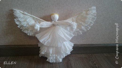 """Доброго всем дня! Представляю вам свою новую работу- ангелочка из салфеток! Делали его на конкурс """"Семья и вера"""" , проходивший в нашем городе. фото 2"""