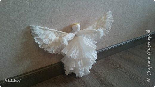 """Доброго всем дня! Представляю вам свою новую работу- ангелочка из салфеток! Делали его на конкурс """"Семья и вера"""" , проходивший в нашем городе. фото 1"""