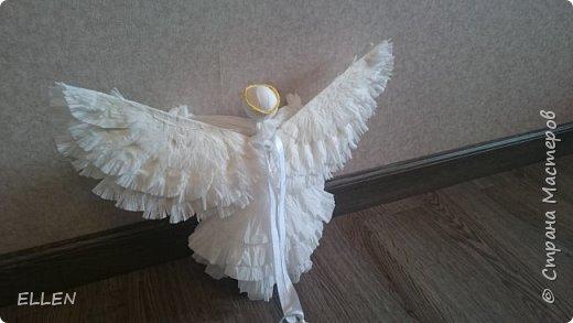 """Доброго всем дня! Представляю вам свою новую работу- ангелочка из салфеток! Делали его на конкурс """"Семья и вера"""" , проходивший в нашем городе. фото 4"""