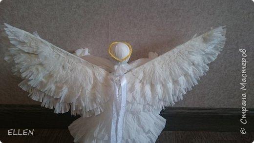 """Доброго всем дня! Представляю вам свою новую работу- ангелочка из салфеток! Делали его на конкурс """"Семья и вера"""" , проходивший в нашем городе. фото 3"""