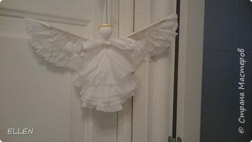"""Доброго всем дня! Представляю вам свою новую работу- ангелочка из салфеток! Делали его на конкурс """"Семья и вера"""" , проходивший в нашем городе. фото 5"""