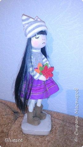 Доброго времени суток, жители Страны! разрешите Вам представить Осеннее настроение. Эта кукла делалась в подарок хорошему человеку по поводу расставания. Получилась очень трогательной и милой. фото 2