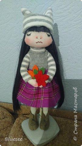 Доброго времени суток, жители Страны! разрешите Вам представить Осеннее настроение. Эта кукла делалась в подарок хорошему человеку по поводу расставания. Получилась очень трогательной и милой. фото 1