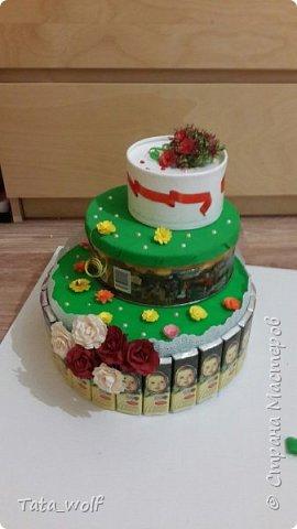 торт из конфеток фото 2