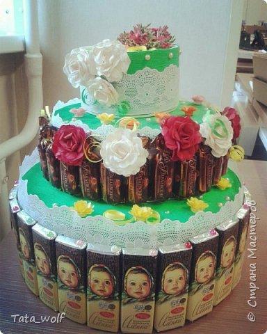 торт из конфеток фото 1