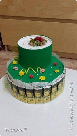 торт из конфеток фото 3