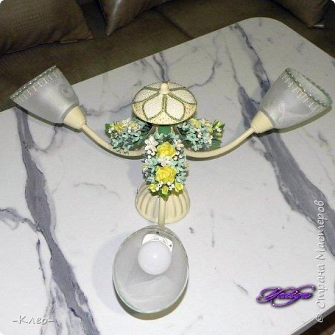 Вот такая в итоге у меня получилась люстра для кухни.  фото 44