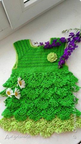 Вот такое летнее платьице получилось на подарок  годовалой принцессе фото 1