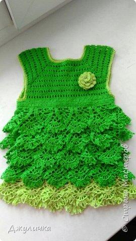 Вот такое летнее платьице получилось на подарок  годовалой принцессе фото 2