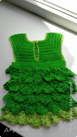 Вот такое летнее платьице получилось на подарок  годовалой принцессе фото 3