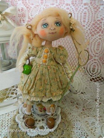 Доброго времени суток, всем кто заглянул! Знакомтесь- моя новая куколка-малышка! Озорная девчушка.  Рост куколки 22 см. фото 2