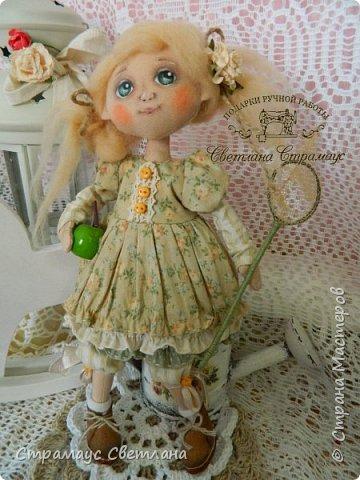 Доброго времени суток, всем кто заглянул! Знакомтесь- моя новая куколка-малышка! Озорная девчушка.  Рост куколки 22 см. фото 1