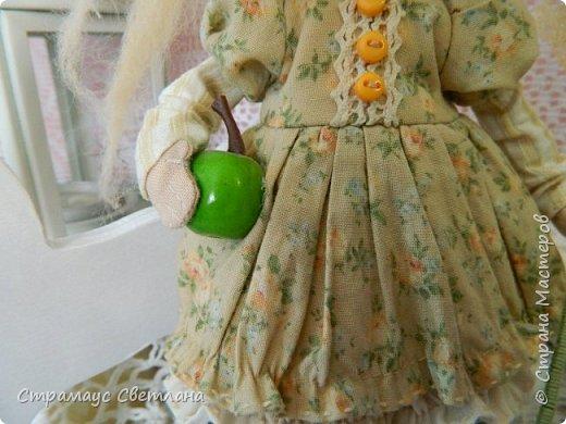 Доброго времени суток, всем кто заглянул! Знакомтесь- моя новая куколка-малышка! Озорная девчушка.  Рост куколки 22 см. фото 4