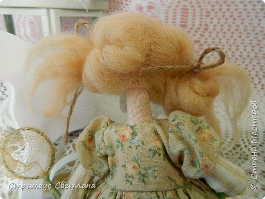 Доброго времени суток, всем кто заглянул! Знакомтесь- моя новая куколка-малышка! Озорная девчушка.  Рост куколки 22 см. фото 6