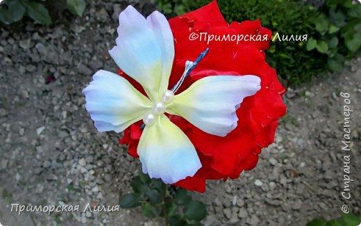 Бабочка из фоамирана. Украшение на лето))) фото 4